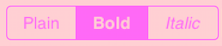 Text Style Selector  テキストスタイルセレクター